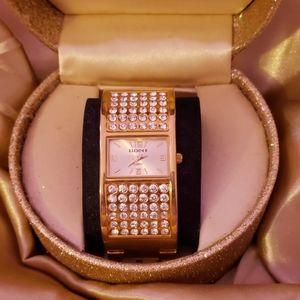 Goldtone Elgin Rhinestone Watch